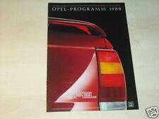 14750) Opel Corsa Omega Senator Kadett Prospekt 1987