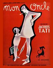 Choose Paper or Canvas POSTER.Jacque Tati Mon Oncle movie.Art home decor.q0170