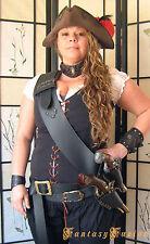 Pirate Freebooter Captain Black Sails LARP Leather Baldric Flintlock Gun Holster