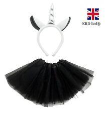 GREY UNICORN TUTU COSTUME Kids Teens Halloween Dash Pony Fancy Skirt Dress UK