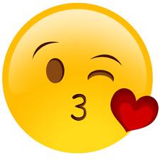 Emoji Blowing Kisses Edible Icing Image