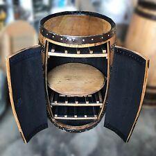"Recycled Solid Oak Whisky Barrel ""Balmoral"" Premium Drinks Cabinet | Wine Rack"