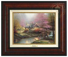 Thomas Kinkade Stepping Stone Cottage 9 x 12 Canvas Classic (Framed)