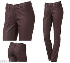 $88 NWT Rock & Republic Berlin Coated Skinny Jeans Speedwagon Burgundy