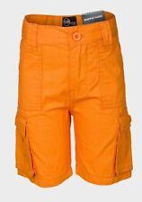 Boys Copper Denim Orange Combat Cargo Summer Holiday Shorts.Sizes:2-7years