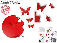 DIAMANTINI & DOMENICONI BUTTERFLY OROLOGIO CON 3 FARFALLE DESIGN MADE IN ITALY