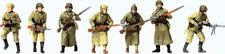 HO 1:87 Preiser Military UNPAINTED WWII Winter Soviet USSR Figures KIT 16600