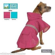 Guardian Gear Vinyl Dog Raincoat Jacket with Hood & Reflective Stripe