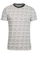 BELLFIELD Hewitt Striped Print T-Shirt   White
