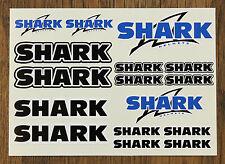 Shark Casco Adhesivo conjuntos-Hoja De 16 stickers-Calcomanías-Motociclismo