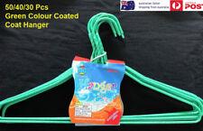 New Green Wire Hangers 30 40 50 Pcs  Coat hangers PVC Colour Bulk Clothes Shirt