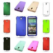 Hard Rubberized Plastic Matte Phone Cover Tough Case for HTC Desire 610
