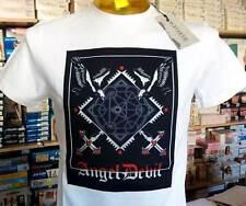 T-shirt homme Angel Devil encolure ronde avec logo couture grande frontal art