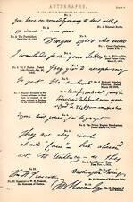 1868 PRINT AUTOGRAPHS 18TH 19TH C WILLIAM PITT LORD BYRON LORD MACAULAY ALFIERI