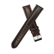 16mm 18mm 22mm 24mm Genuine Leather Watch Band Strap Dark Brown Mens Women