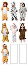 Costume Tuta Intera da Bambini Neonati Leoni Dalmata Tigre Coniglio Orso