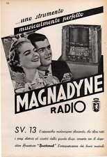 PUBBLICITA' ADVERTISING ANNI '30-MAGNADYNE SV13 B