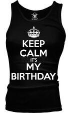 Keep Calm It's My Birthday War Poster Happy Joke Crown Party Is Girls Tank Top