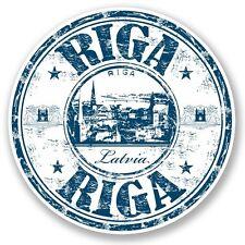 2 x Riga Latvia Vinyl Sticker Laptop Travel Luggage Car #5225