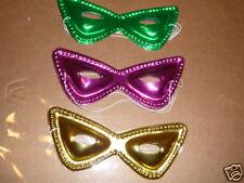 12 Mardi Gras Cat Masks  Birthday, School Party Favor