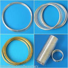 Bague/Bracelet/Necklace Memory Wires All Sizes & Colours