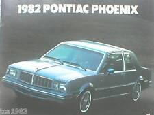 1982 Pontiac PHOENIX Brochure/Catalog/Book:SJ, LJ,