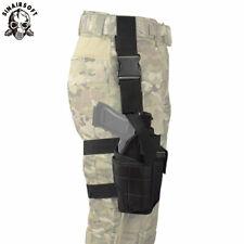 Tactical Pistol Drop Leg Thigh Holster W/Mag Pouch Righthand Nylon Gun scabbard