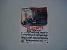 advertising Pubblicità 1978 MOTO DUCATI 350/500 GTV