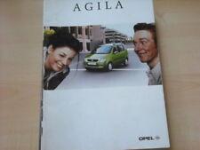 26611) Opel Agila Österreich Prospekt 2000
