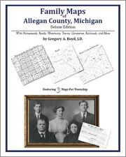 Family Maps Allegan County Michigan Genealogy MI Plat