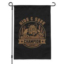 Hide and Seek Champion Bigfoot Sasquatch Funny Garden Yard Flag