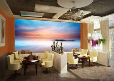 3D Ocean Orange Sunset Glow 27 Wall Paper Wall Print Decal Wall AJ Wall Paper