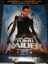 Laura Croft Tomb Raider Soundtrack promo poster, Angelina Jolie