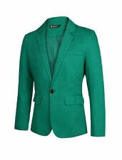 Men Slim Fit Inside Pocket Single Button Closure Casual Blazer