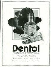 Publicité ancienne  DENTOL dentifrice antiseptique  1938
