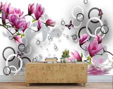 Bright Novel Tulips 3D Full Wall Mural Photo Wallpaper Printing Home Kids Decor