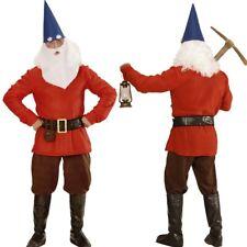 ROTER ZWERG Herren Zwergen Kostüm Elf Wichtel Gnom Kostüm 46 48 50 52 54 56 58