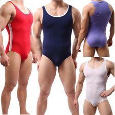 Mens Comfortable Sport Leotard Wrestling Singlet Briefs Bodysuit Jumpsuit M L XL