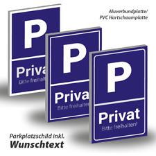 Parkplatzschild mit Wunschtext ○ Hinweisschild ○ Alu-Dibond® ○ Forex® Hartschaum