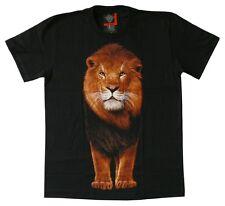 T-Shirt Löwe, Gr. M,L, Afrika Savanne Raubkatze Lion, Zoo Großkatze Raubtier
