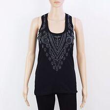 NEW Diesel Womens Size S M L Black Long Vest T Shirt