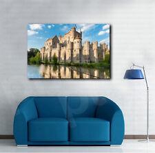 Gravensteen Medieval Castle Belgium Canvas Art Poster Print Wall Decor