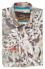 NWT Robert Graham Desert Bones Luxurious SILK LS Shirt XL 2XL 3XL