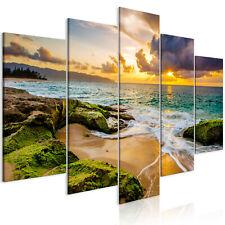 MEER STRAND LANDSCHAFT NATUR Wandbilder xxl Bilder Vlies Leinwand c-B-0464-b-m
