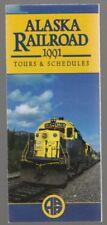 1991 ALASKA RAILROAD TOURS & SCHEDULE BROCHURE