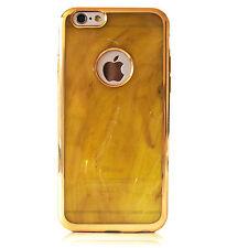 Schutz Handy Hülle für iPhone Samsung Case Cover Tasche Dünn Marmor Luxus Gelb