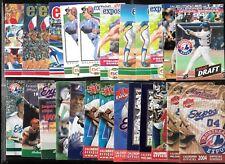 MONTREAL EXPOS POCKET SCHEDULE & TICKET STUB & SCORECARD MLB BASEBALL SEE LIST