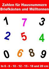 Klebebuchstaben Zahlen Aufkleber Briefkasten Hausnummer Zahl Nummer Startnummer