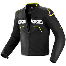 Spidi Evo Rider Motorcycle Leather Sports Race Waterproof Jacket BLACK FLUO