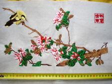 Tableau Broderie Chinoise-cheval-Van Gogh-Fleur Oiseau